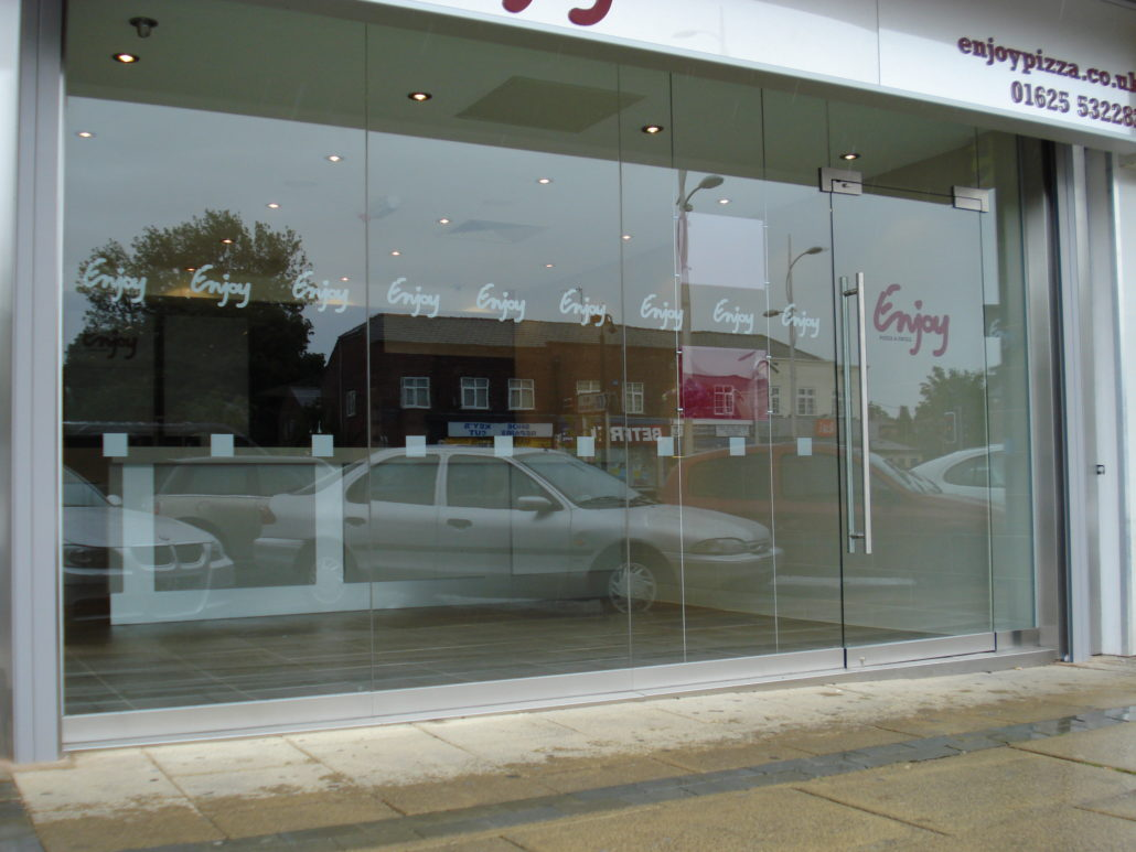 toughen glass shopfront